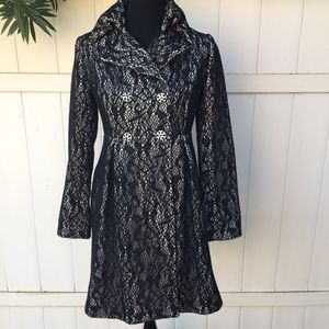 Beth Bowley Double Breasted Lace Coat Size 4